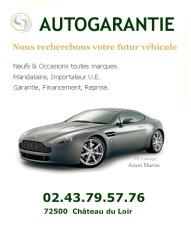 AUTOGARANTIE : Mandataire, importateur automobile - Chateau du Loir, entre Le Mans et Tours
